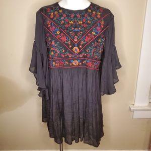 Umgee Embroidered Mini Dress